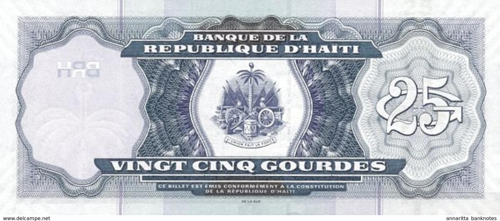 HAITI 25 GOURDES 2014 P-266e UNC  [HT839e] - Haiti