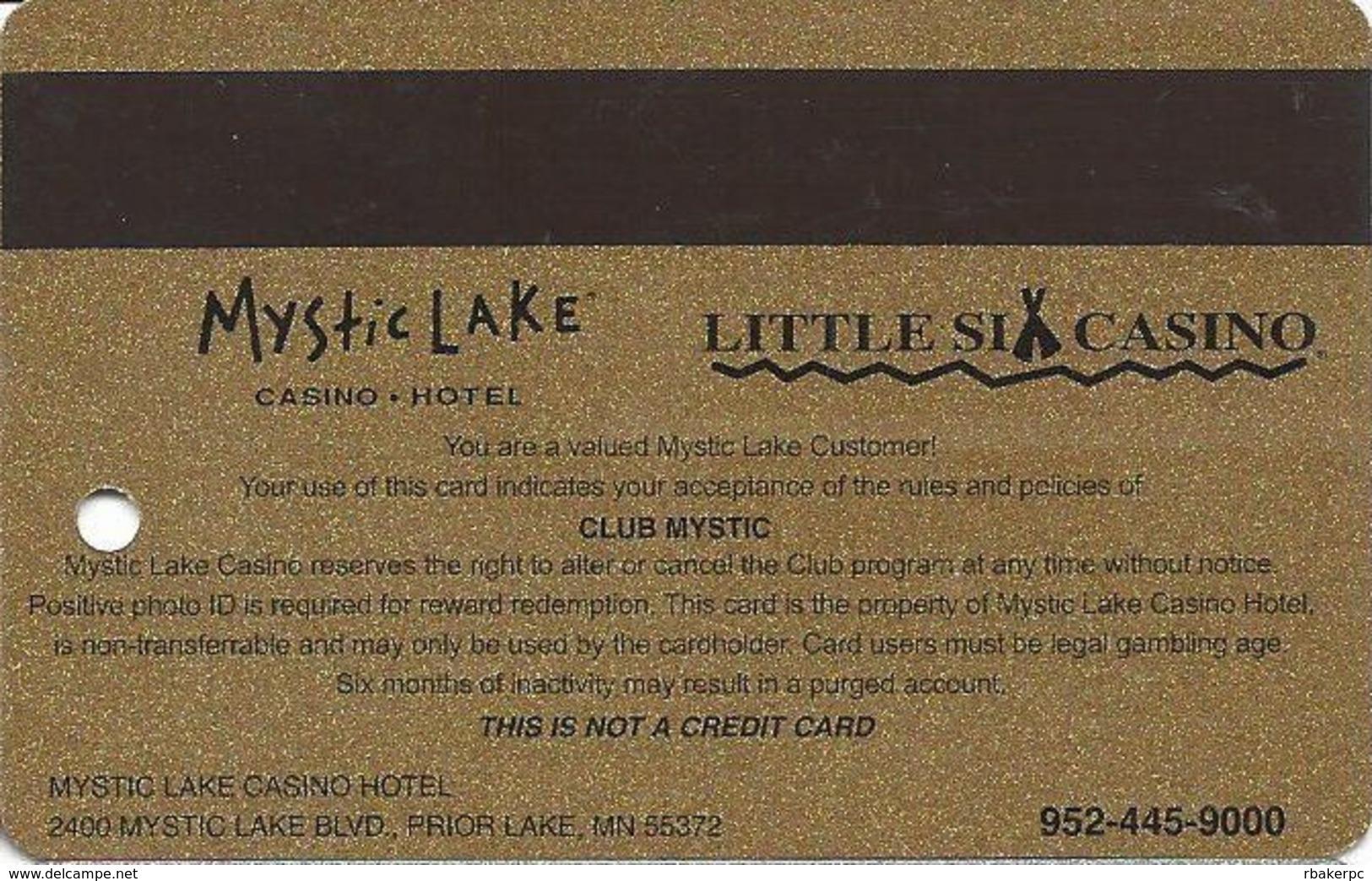 Mystic Lake Casino - Prior Lake MN - 2005 Slot Card - Casino Cards