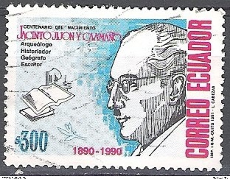 Ecuador 1991 Michel 2202 O Cote (2005) 0.60 Euro Archéologue Jacinto Jijón Y Caamaño - Ecuador