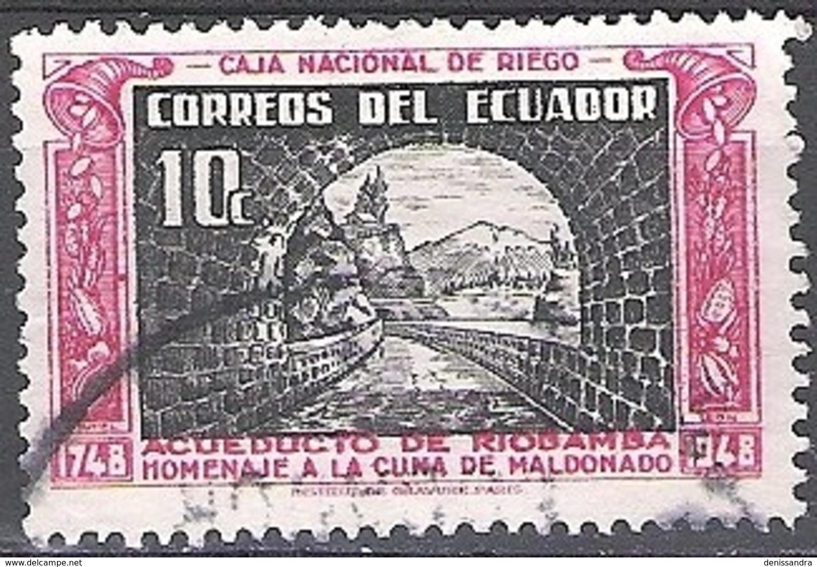 Ecuador 1948 Michel 699 O Cote (2005) 0.20 Euro Pont-aqueduc De Riobamba Cachet Rond - Equateur