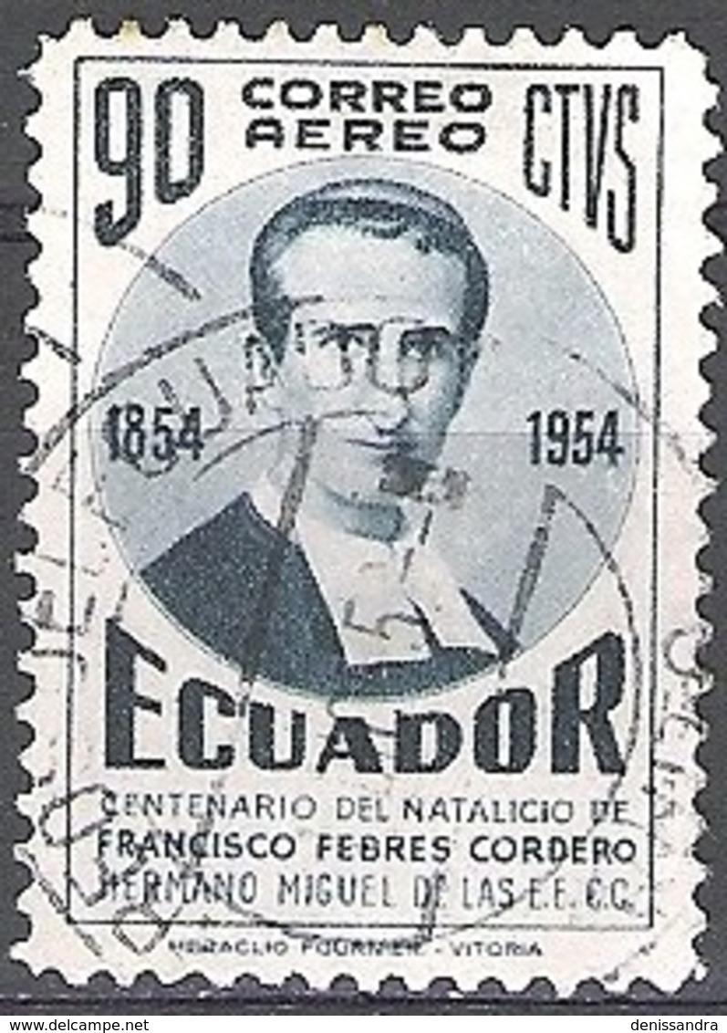 Ecuador 1954 Michel 858 O Cote (2005) 0.10 Euro Francisco Febres-Cordero Cachet Rond - Equateur