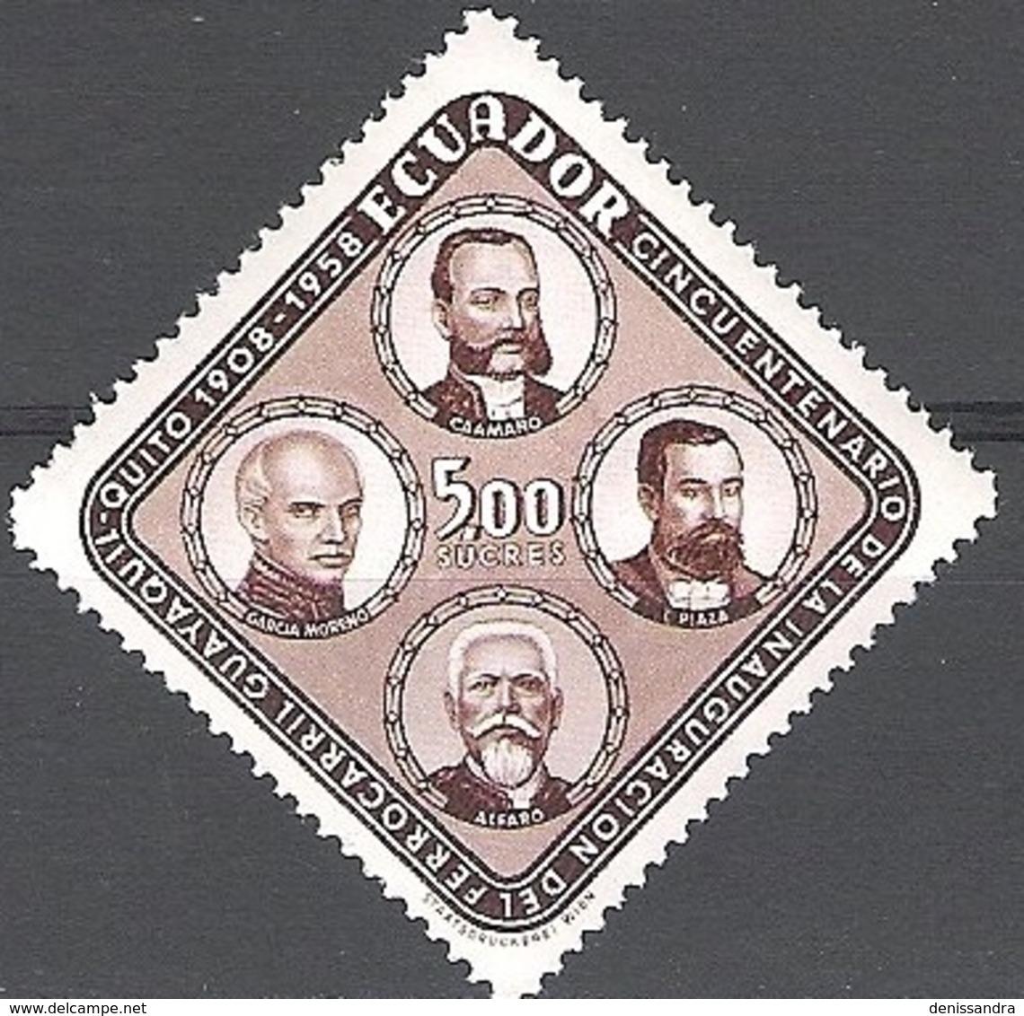 Ecuador 1959 Michel 972 Neuf ** Cote (2005) 1.50 Euro Présidents Cachet Rond - Equateur