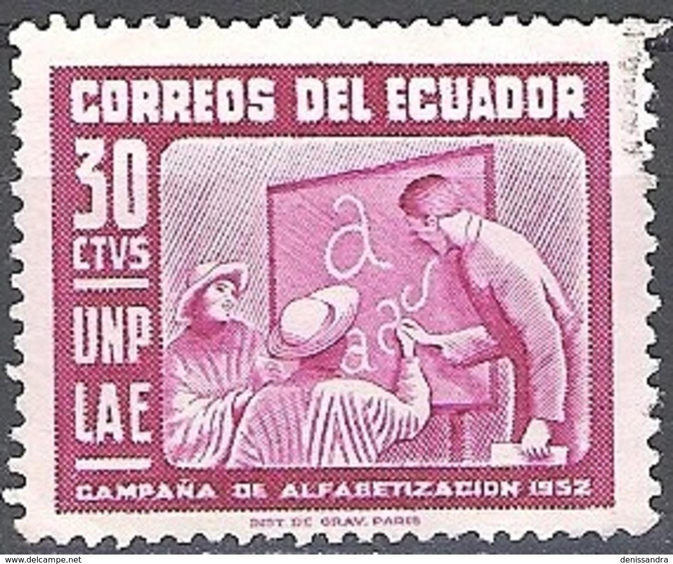 Ecuador 1953 Michel 806 O Cote (2005) 0.10 Euro Education Des Adultes Cachet Rond - Equateur