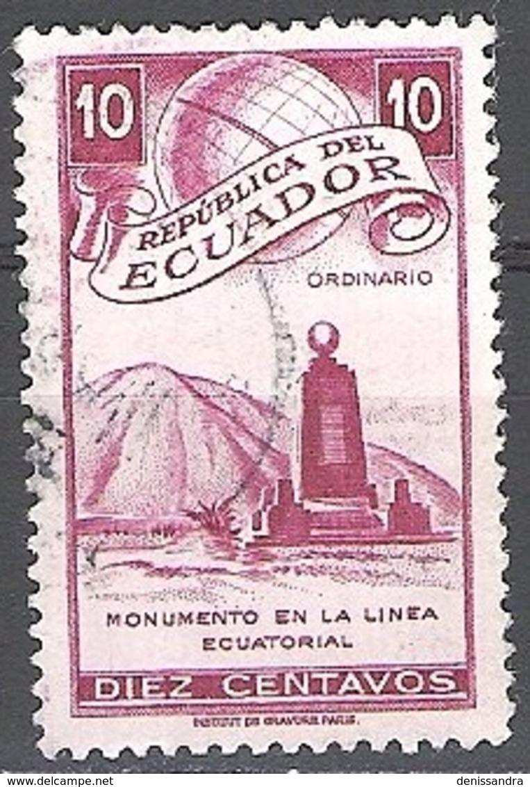 Ecuador 1949 Michel 724 O Cote (2005) 0.10 Euro Monument De L'equateur Cachet Rond - Ecuador