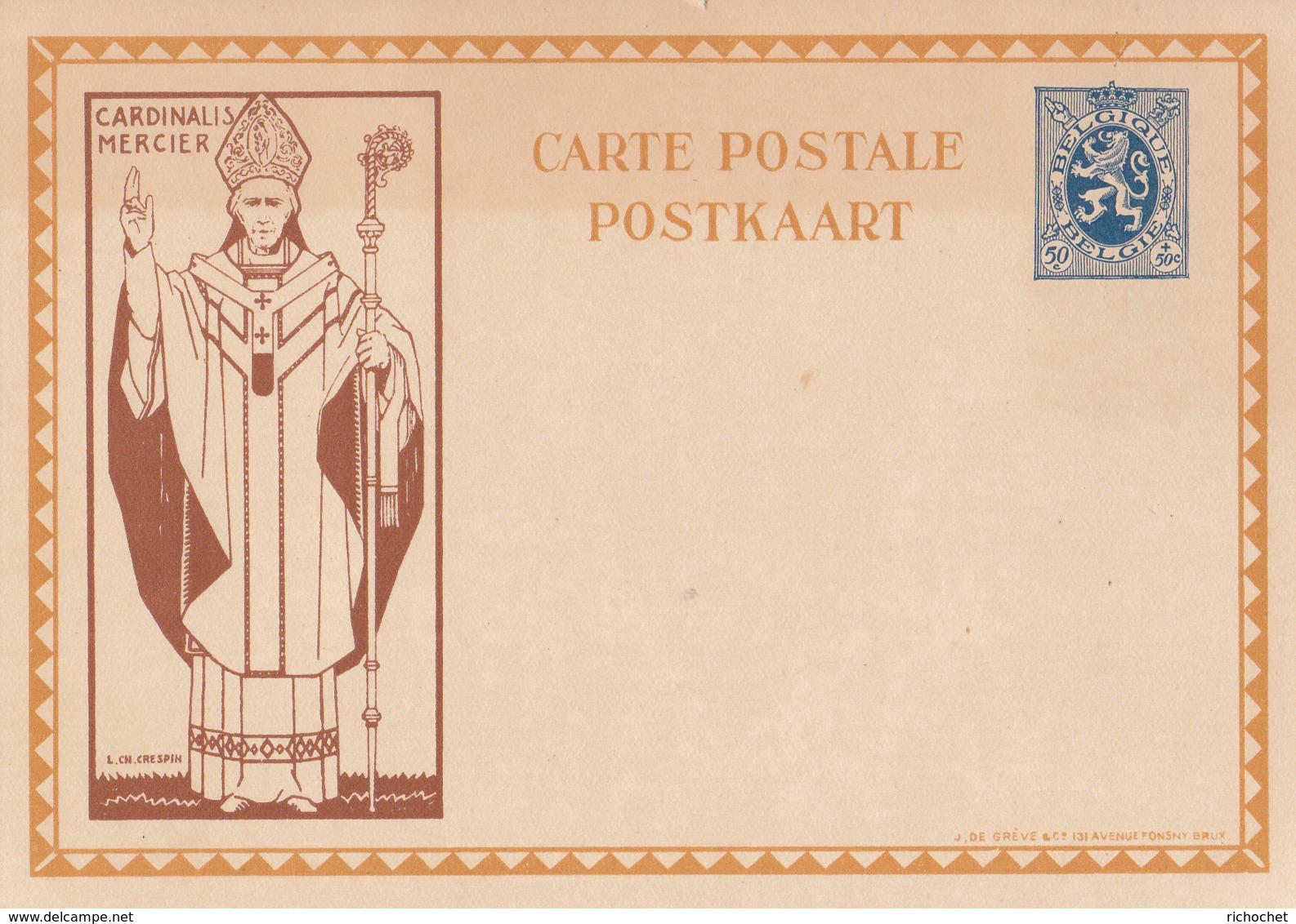 Belgique Illustrée Cardinal Mercier N° 17 Série  De 6 Cartes ** - Ganzsachen