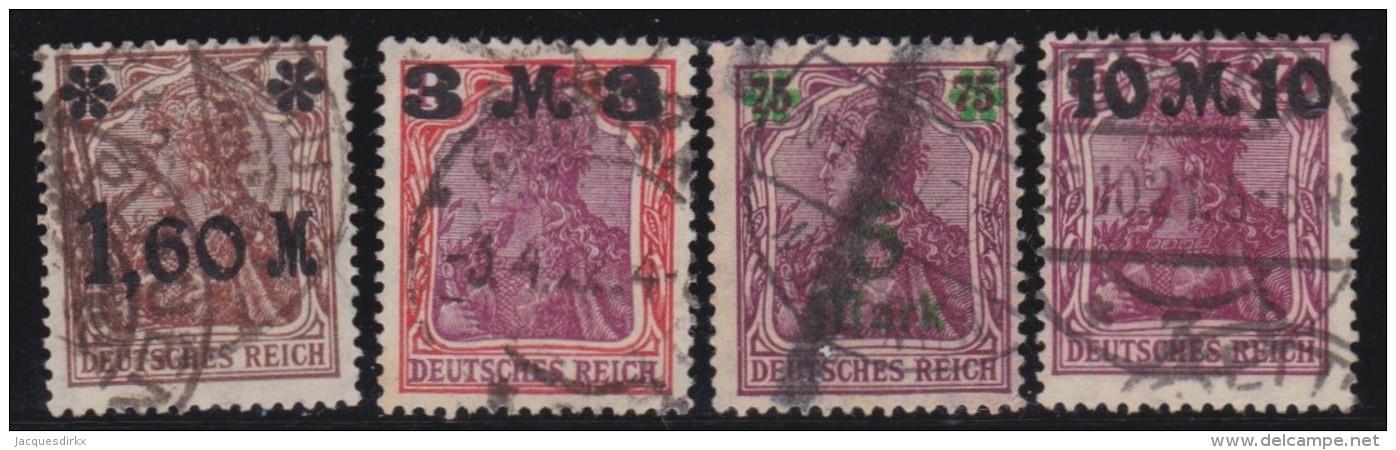 Deutsches Reich   .    Michel     .    164/167       .         O      .   Gebraucht - Gebraucht