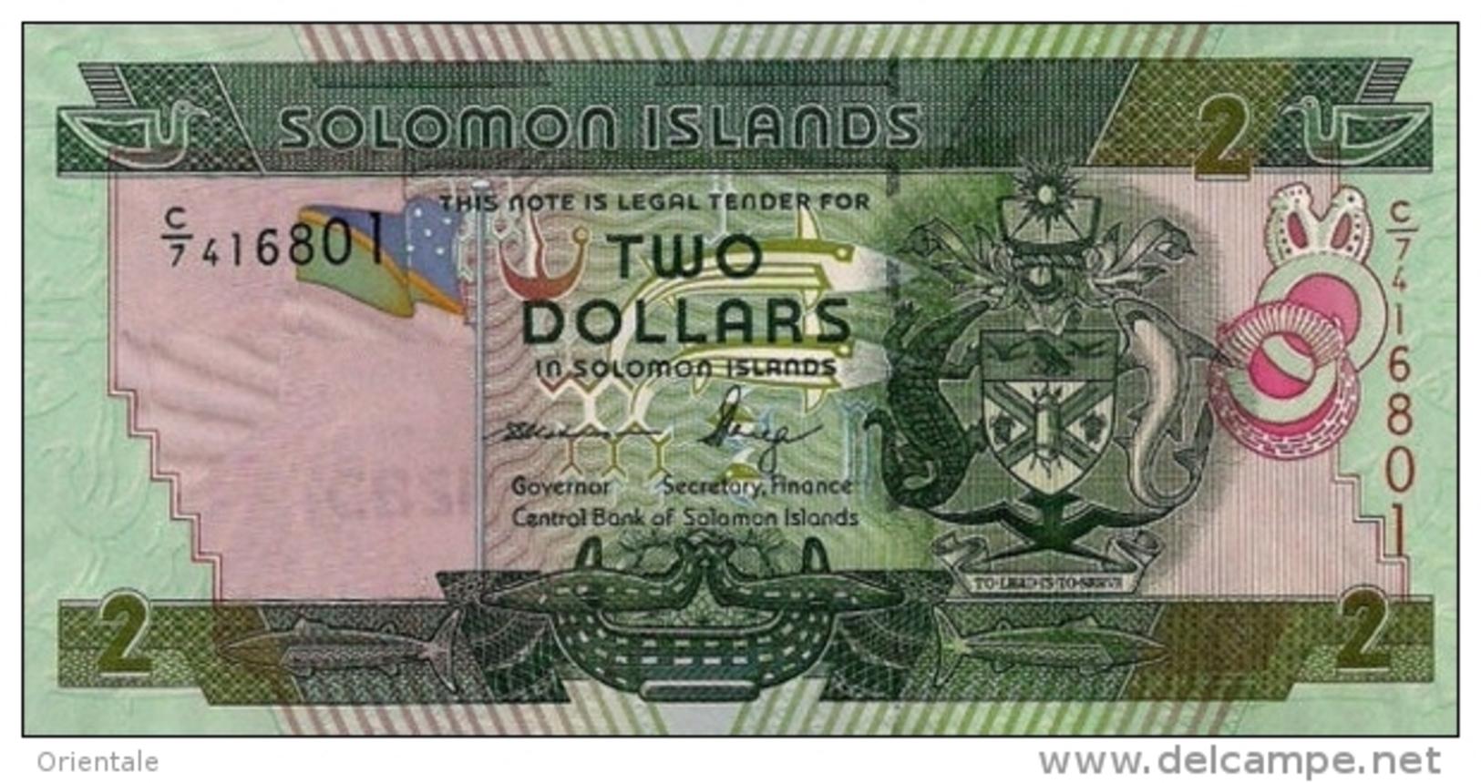 SOLOMON ISLANDS P. 25 2 D 2011 UNC - Salomons