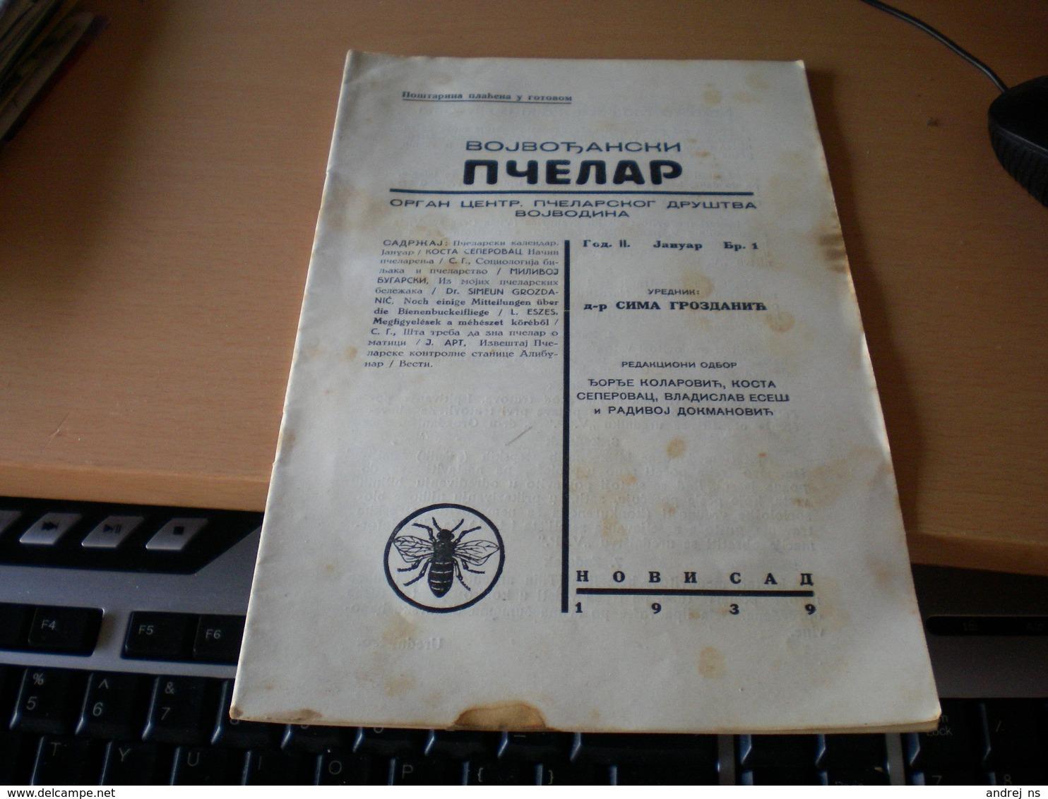 Vojvodjanski Pcelar Novi Sad 1939 Newspapers About . Bee - Books, Magazines, Comics
