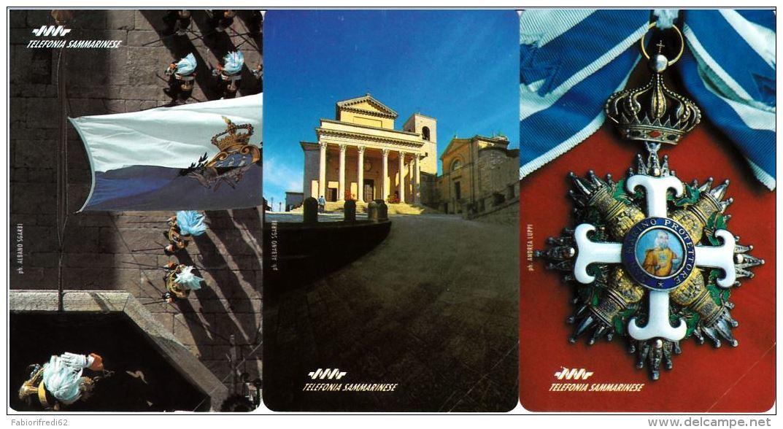 SERIE SCHEDE TELEFONICHE NUOVE RSM 4-6 SERIE OLOGRAFICA - San Marino