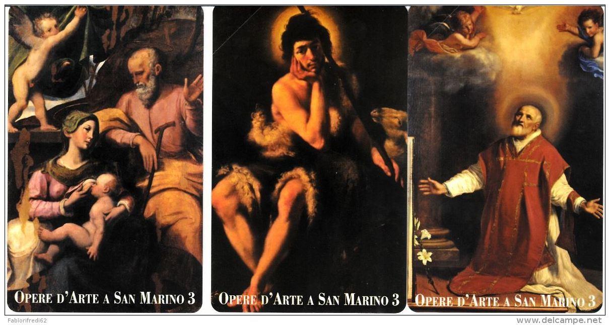 SERIE SCHEDE TELEFONICHE NUOVE RSM E36-38 OPERE D'ARTE - San Marino