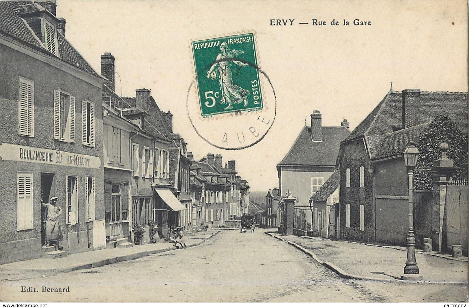 ERVY RUE DE LA GARE BOULANGERIE 10 - Ervy-le-Chatel