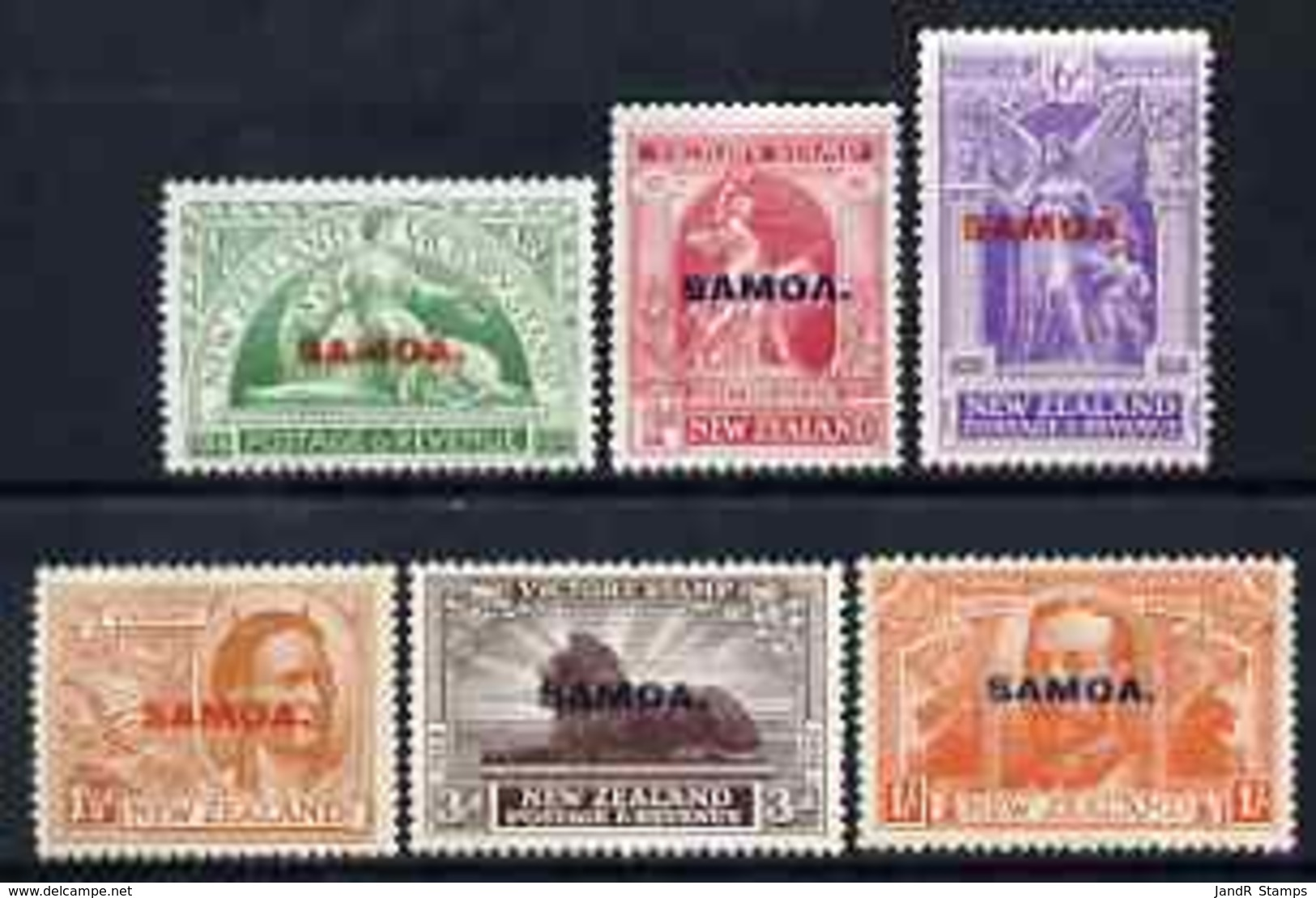 Samoa 1920 Victory Set Of 6 Mtd Mint, SG 143-48 - Samoa