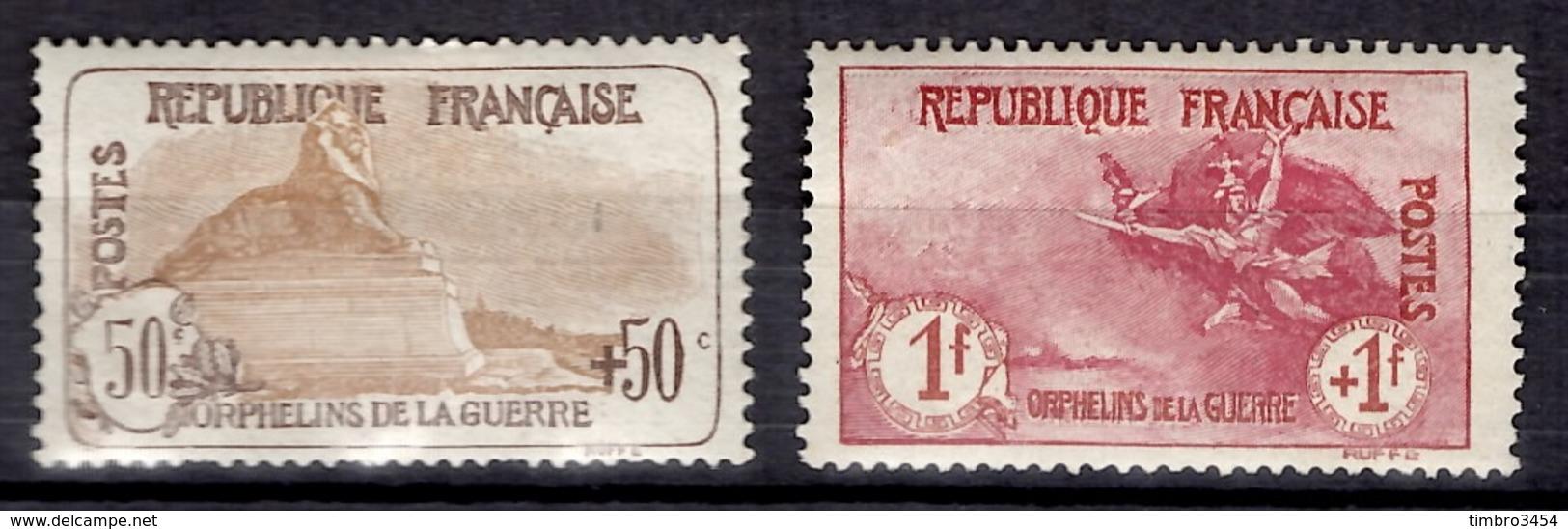 France Orphelins YT N° 153 Et 154 Neufs *. Gomme D'origine. B/TB. A Saisir! - France