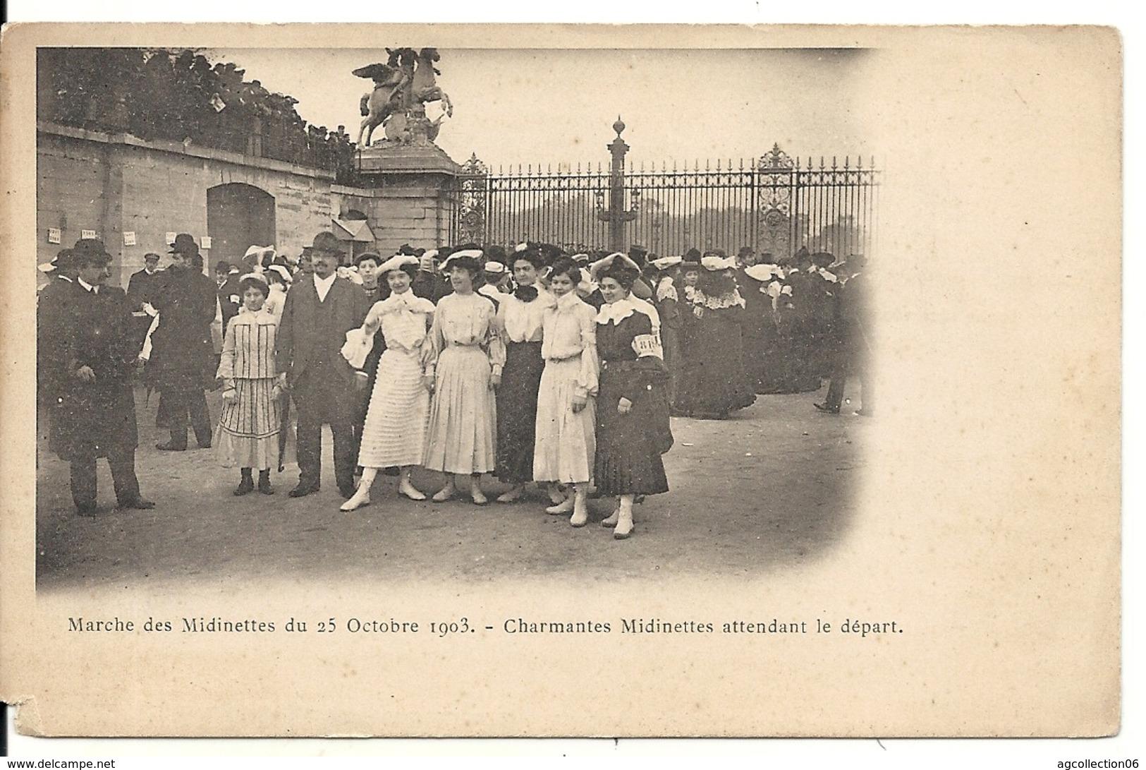 MARCHE DES MIDINETTES. 25/10/1903. AVANT LE DEPART - Autres