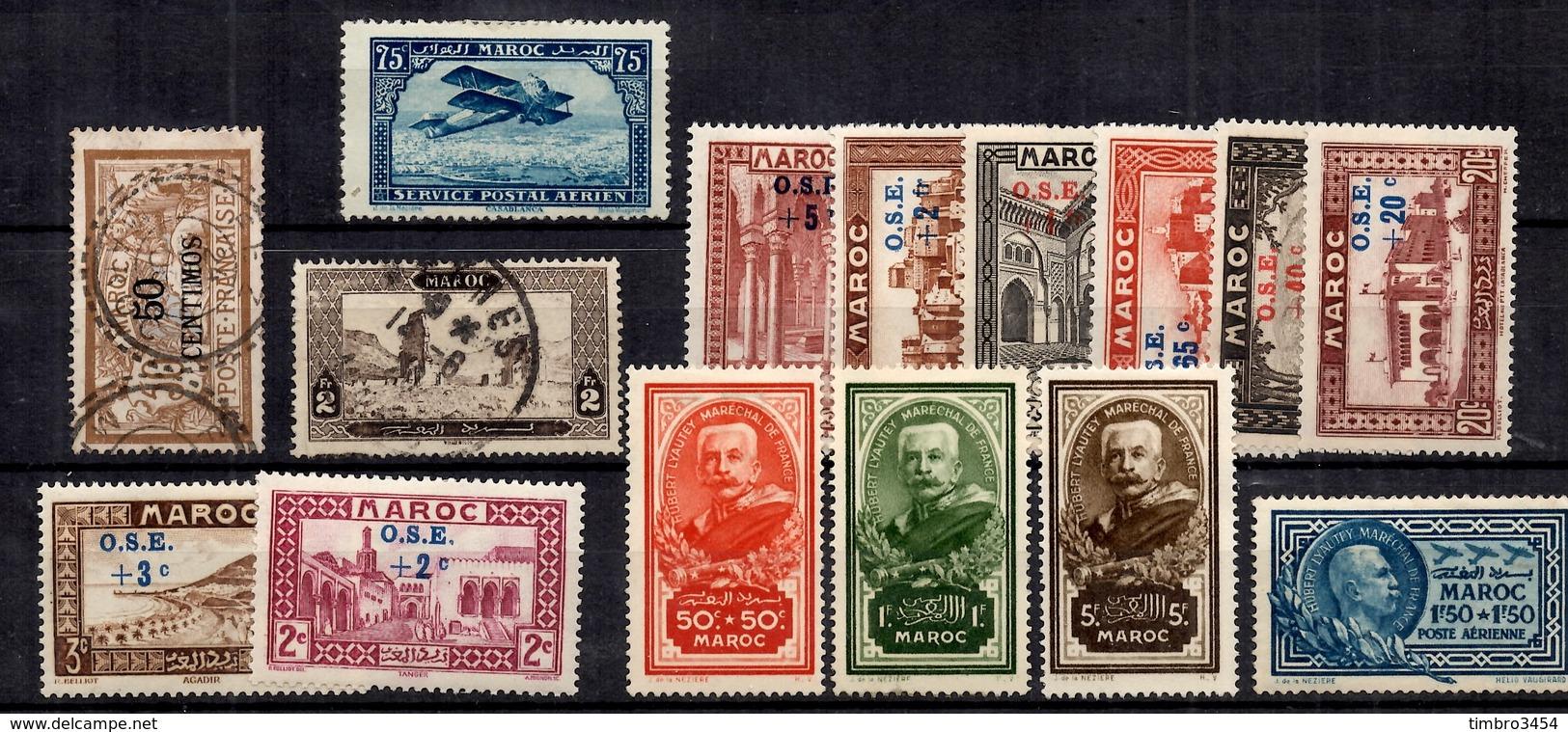 Maroc Belle Petite Collection De Bonnes Valeurs 1902/1938. B/TB. A Saisir! - Maroc (1891-1956)