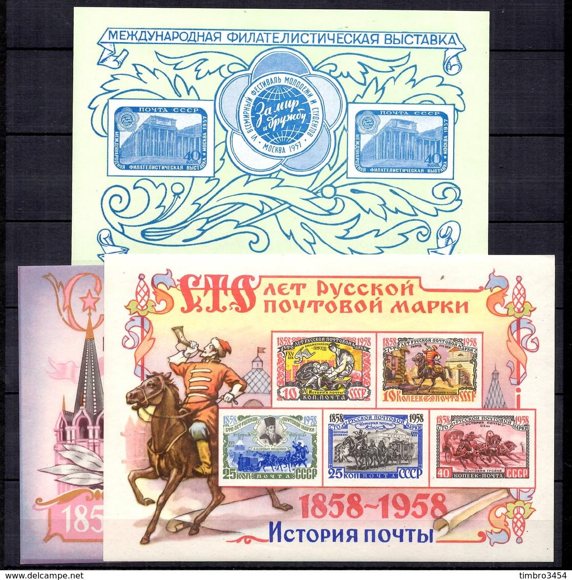 Russie Blocs-feuillets YT N° 22 Et N° 25/26 Neufs  ** MNH. TB. A Saisir! - 1923-1991 URSS
