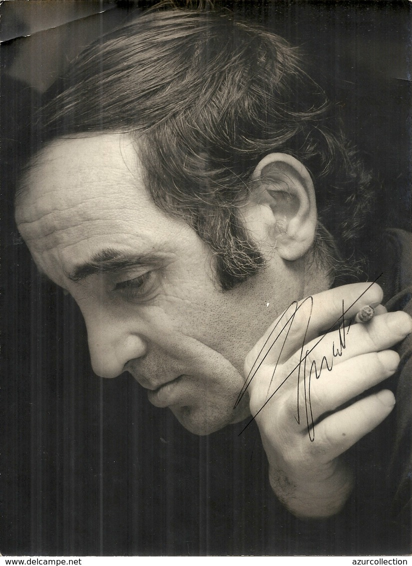 CHARLES AZNAVOUR . DEDICACEE - Famous People