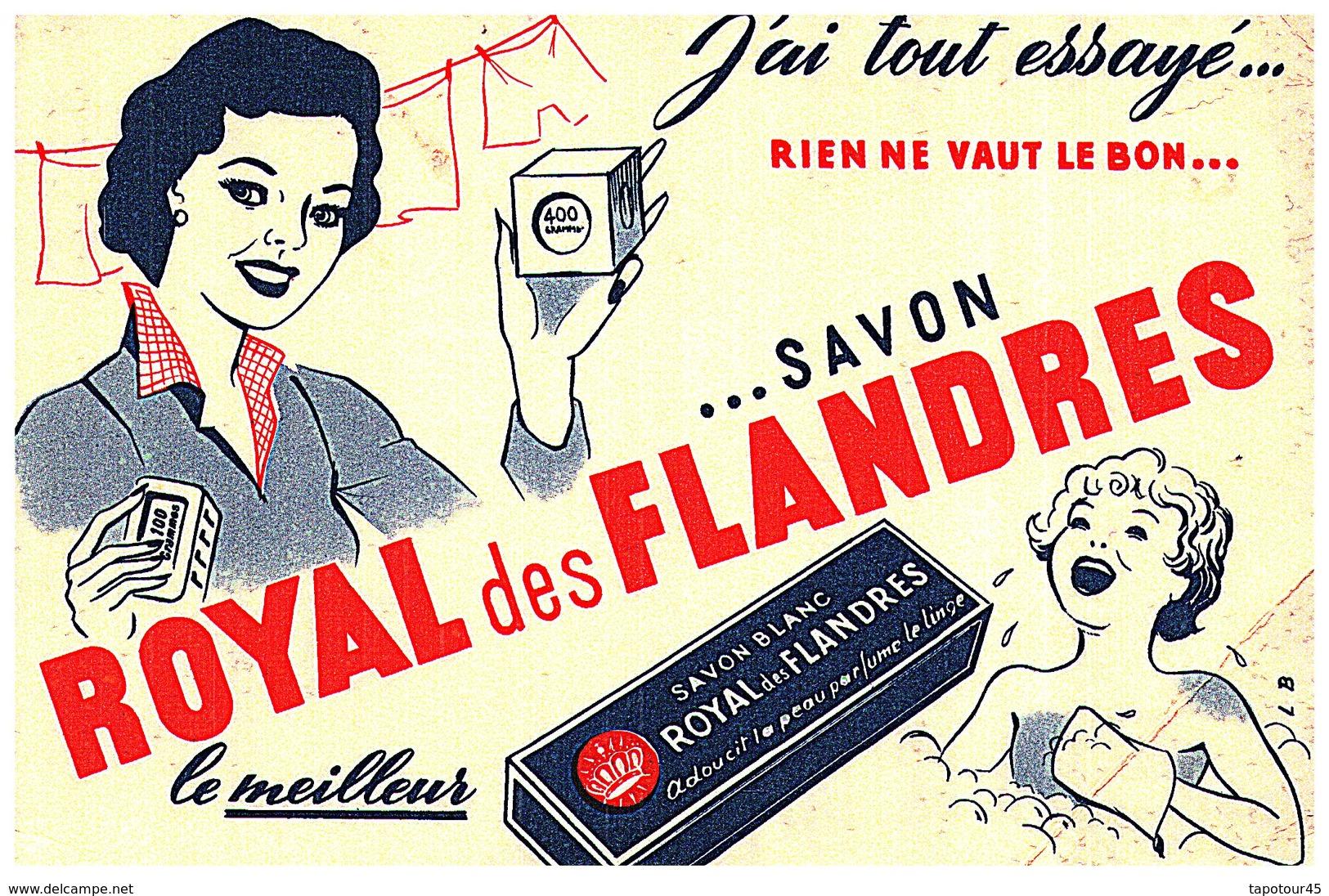 S R F/Buvard Savon Royal Des Flandres  (Format 18 X 12) (N= 1) - Buvards, Protège-cahiers Illustrés