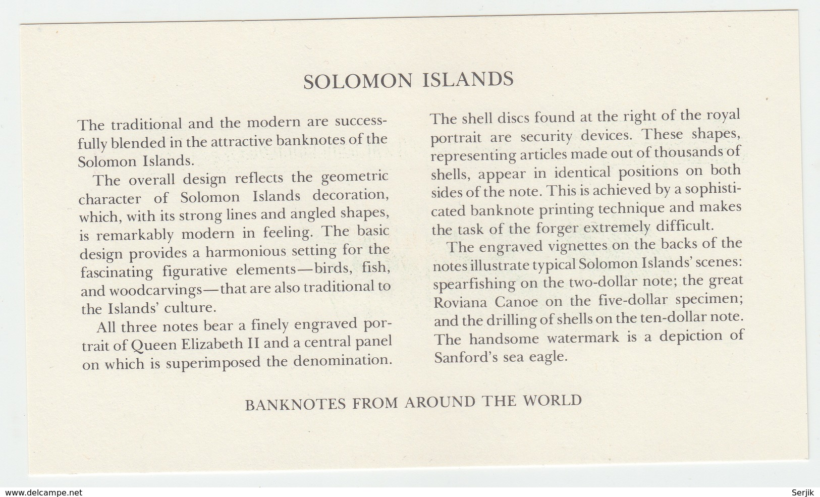 Solomon Islands Specimen Set 2 , 5 , 10 Dollars 1977 - Solomon Islands