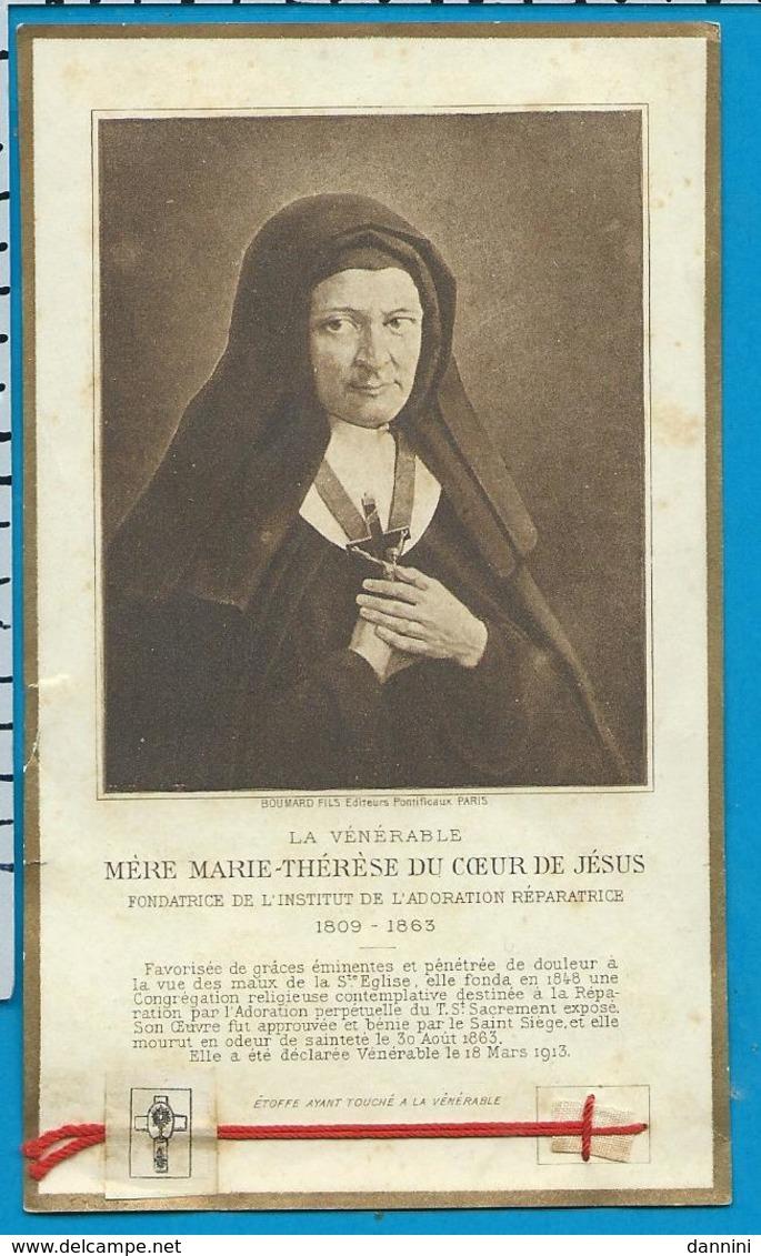 Relic    Reliquia   Mére   Marie - Thérése Du Coeurde Jésus - Images Religieuses