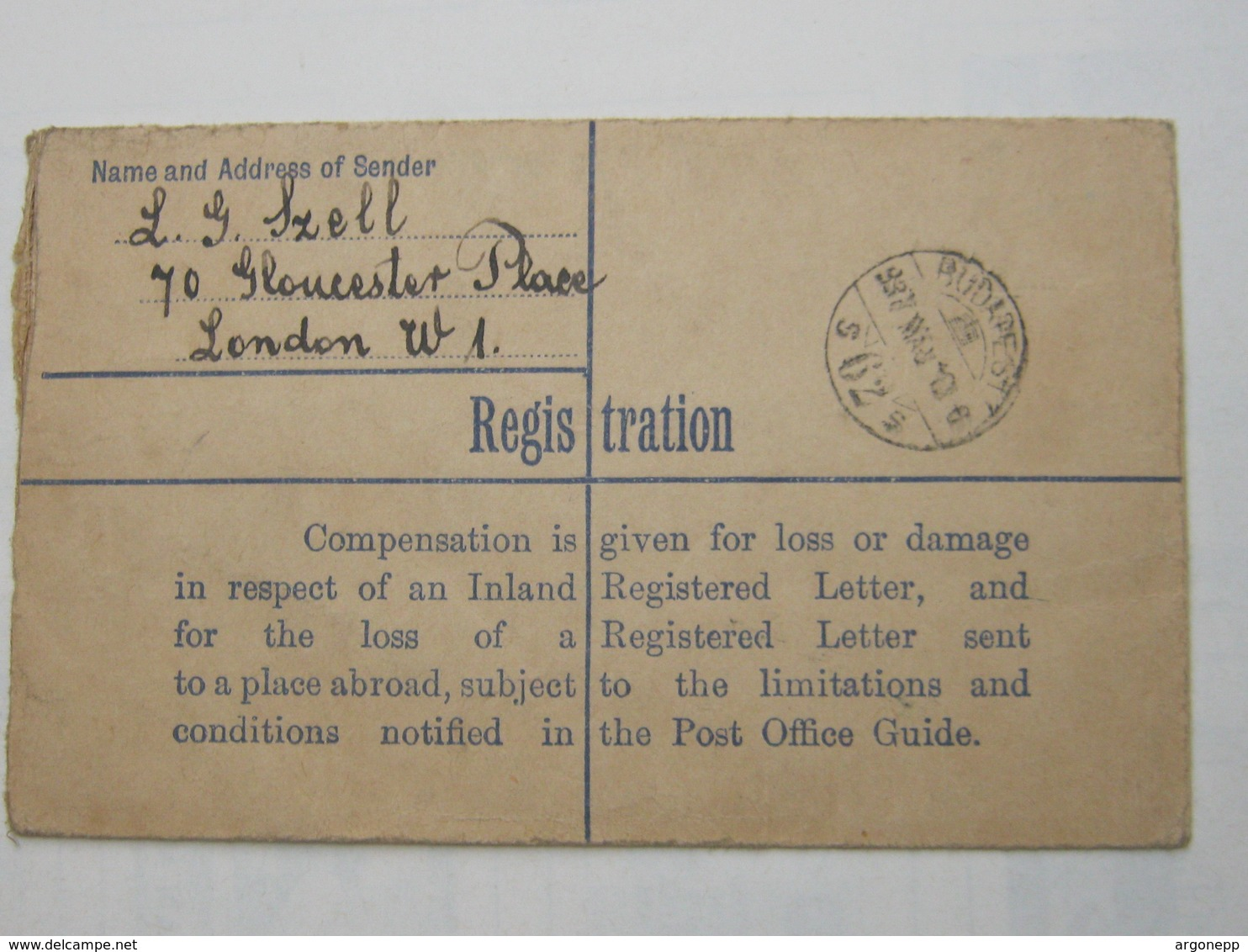 1937 , Registered Letter To Hungary - 1902-1951 (Kings)