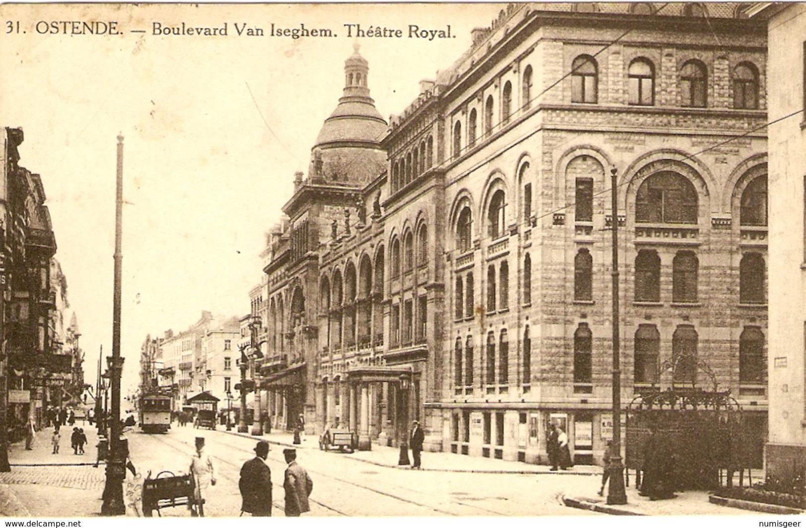 OSTENDE   --  Boulevard Van Iseghem - Théâtre Royal - Oostende