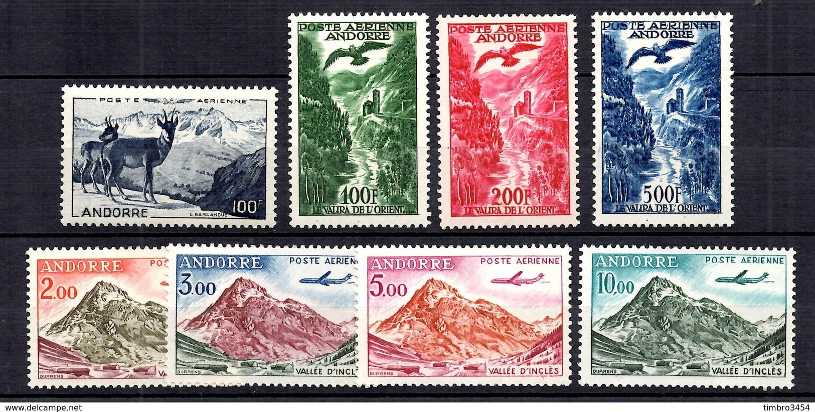 Andorre Poste Aérienne YT N° 1/8 Neufs ** MNH. TB. A Saisir! - Luftpost