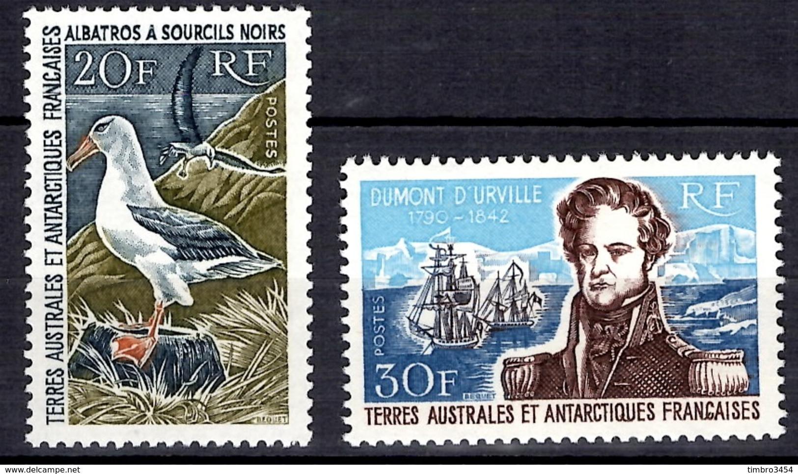 TAAF Albatros YT N° 24/25 Neufs ** MNH. TB. A Saisir! - Französische Süd- Und Antarktisgebiete (TAAF)