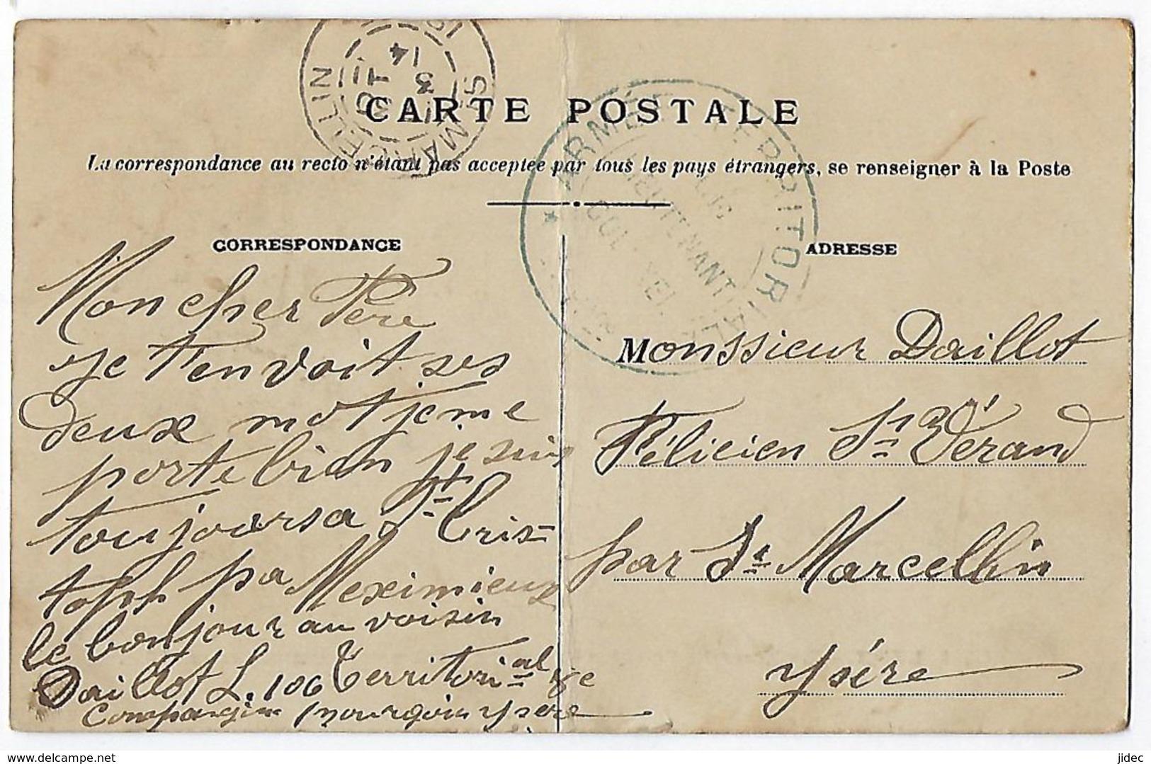 CPA 69 Rhône Lyon État Moyen La Nouvelle Gare Des Brotteaux En Construction Février 1906 Cachet Militaire. - Lyon