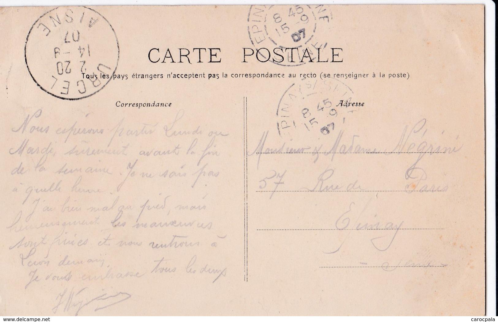 Carte 1907 URCEL / LES ECOLES ET LA MAIRIE FONDEES EN 1837 - France