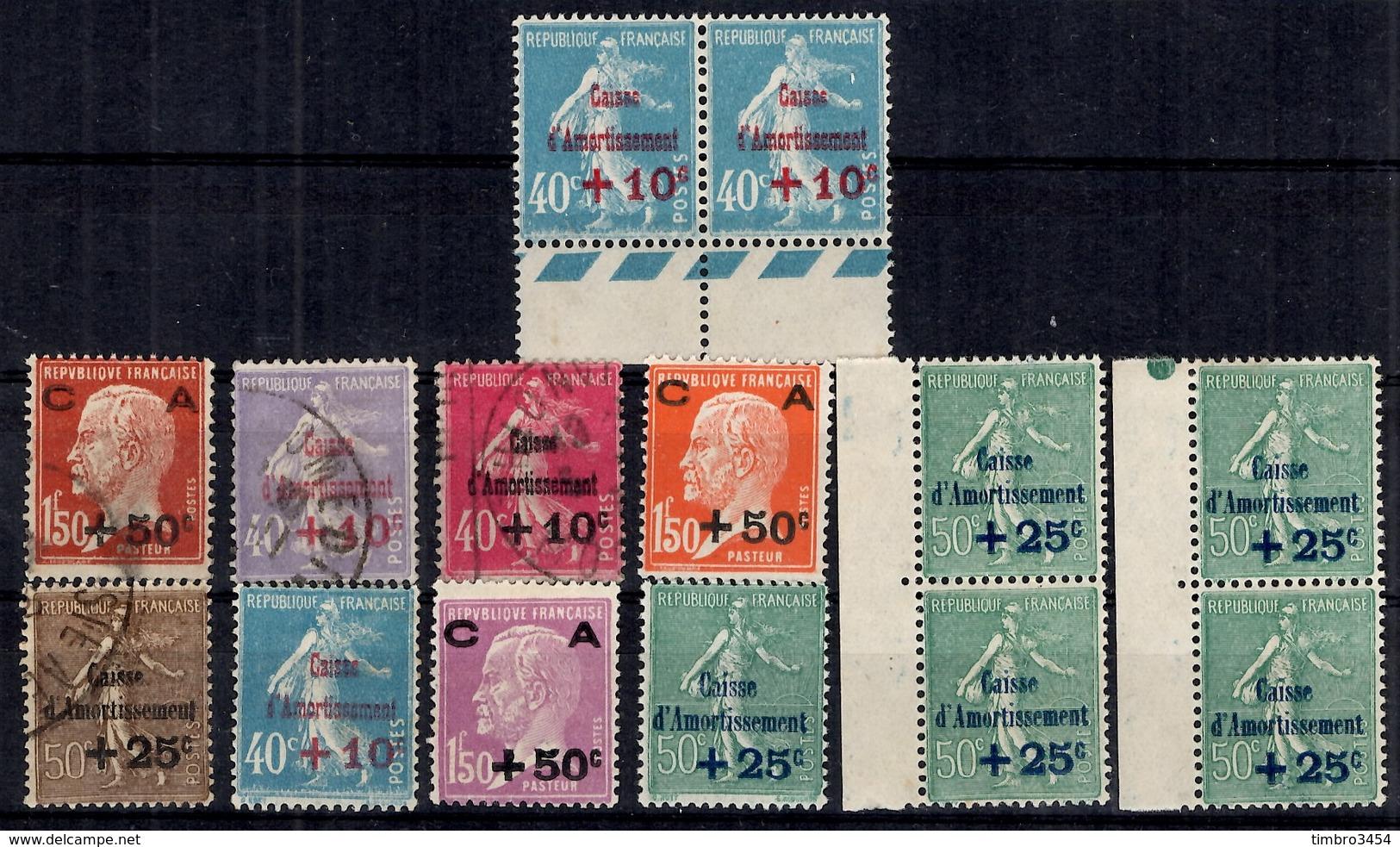 France Petite Collection De Caisse D'Amortissement Neufs **/* Et Oblitérés 1927/1930. B/TB. A Saisir! - Ungebraucht