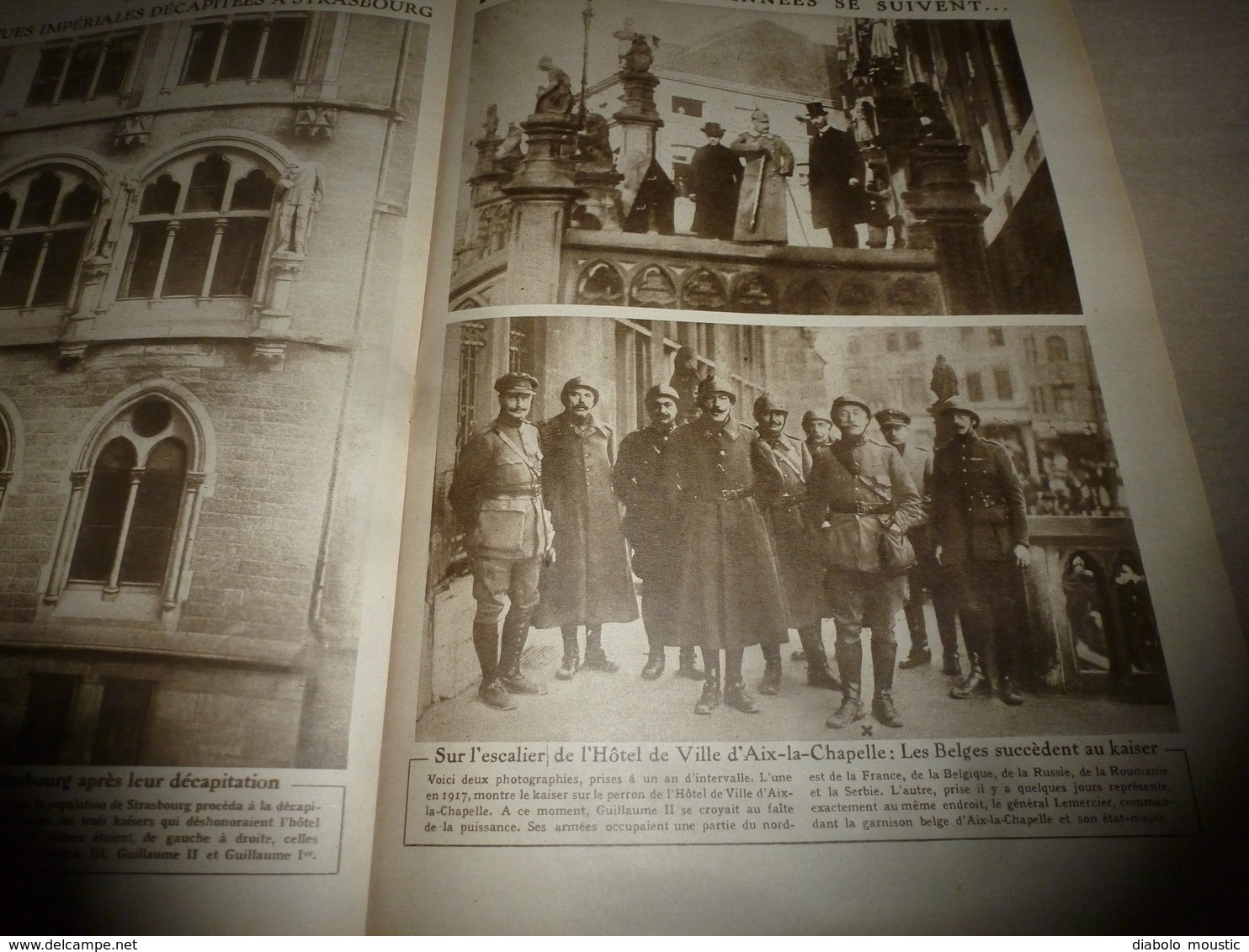 1918 LE MIROIR: Liège (Belgique);Les Belges à Aix-la-Chapelle;Terreur à Bruxelles;Hyravions Anglais De Combat;etc - Revues & Journaux