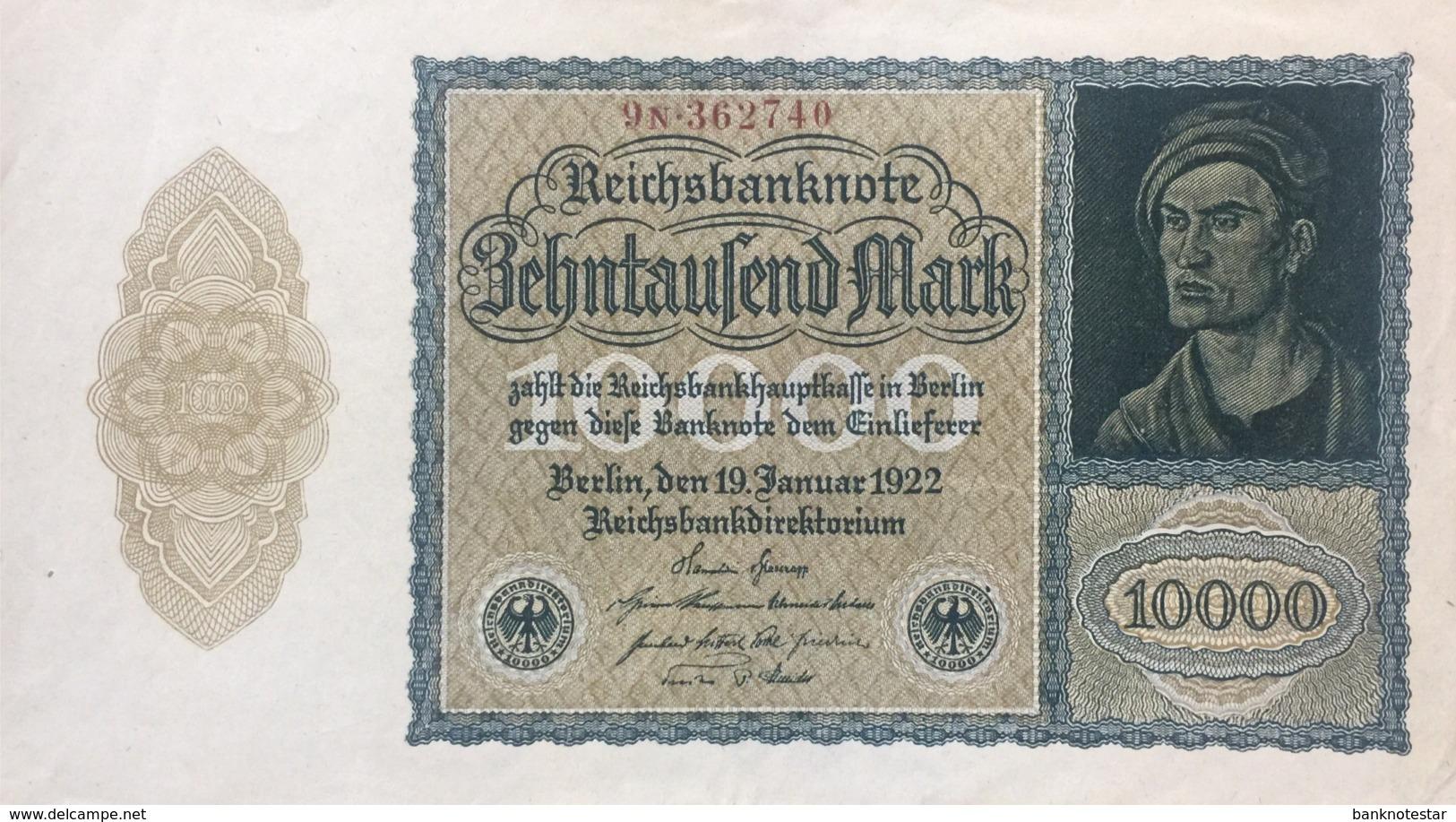 Germany 10.000 Mark, DEU-78c/Ro.69c (1922) - EF/XF - 10000 Mark
