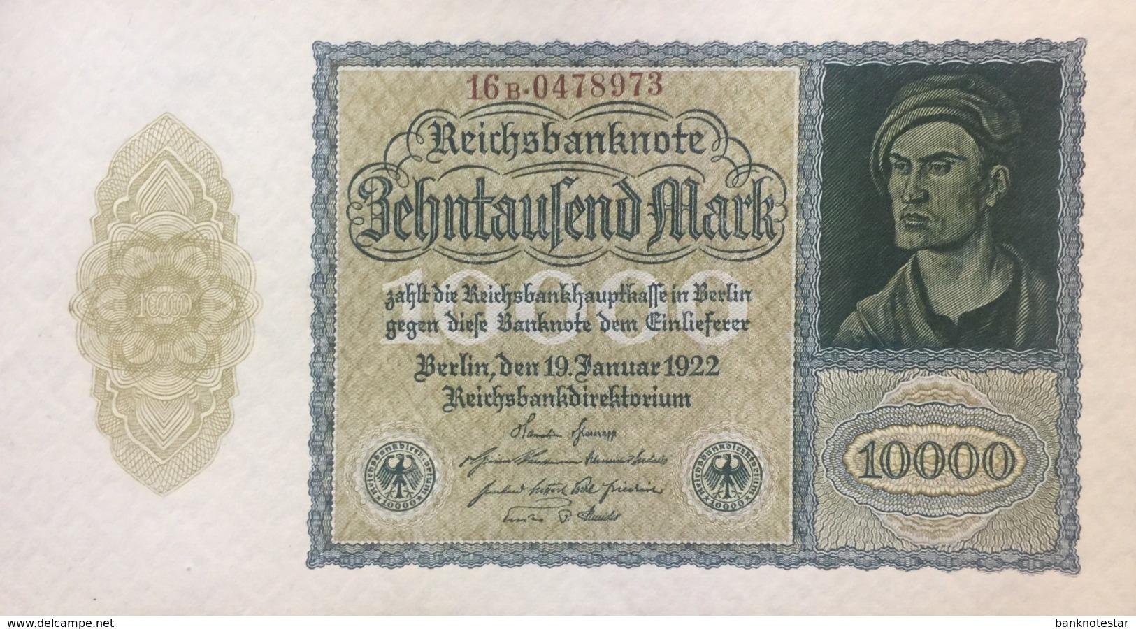 Germany 10.000 Mark, DEU-78d/Ro.69d (1922) - UNC - 10000 Mark