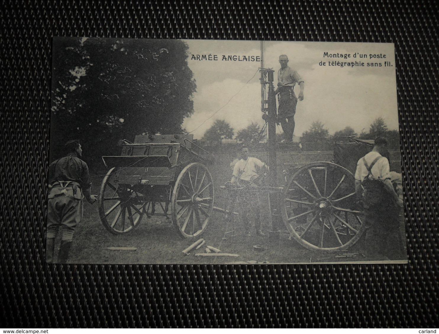 Guerre ( 193 ) Oorlog 1914 - 1918  Armée Anglaise  Leger  Soldats  Soldat  Soldaten Soldaat Poste Télégraphie - Guerre 1914-18