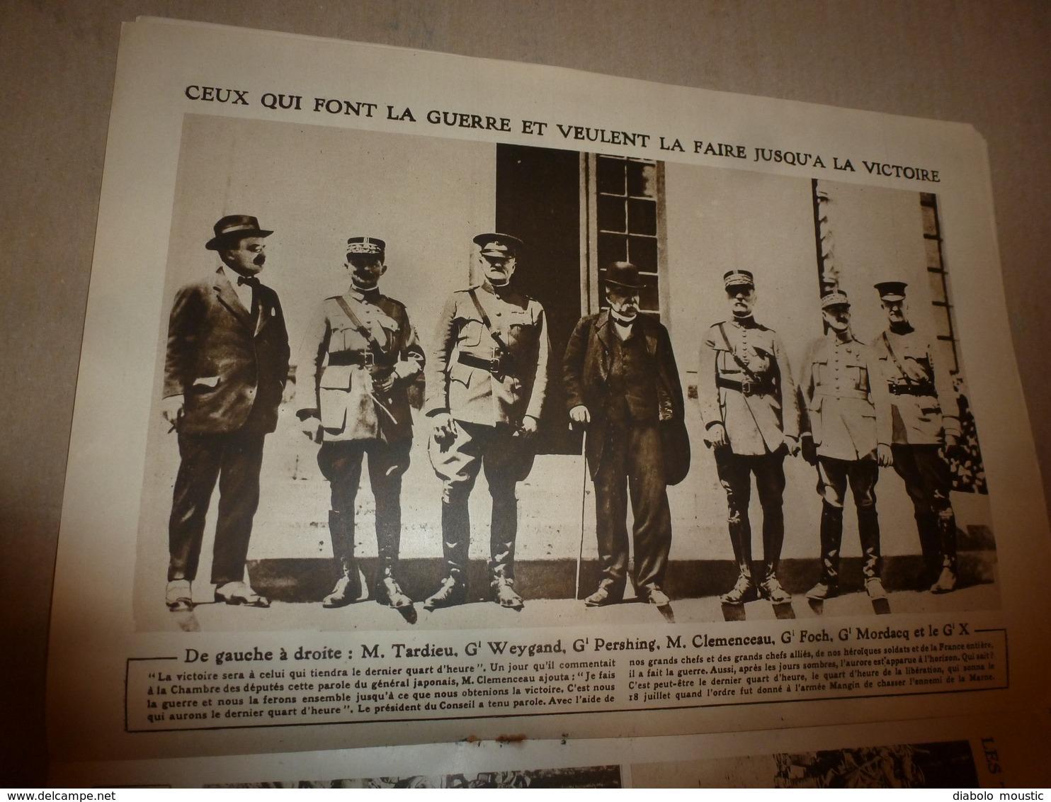 1918 LE MIROIR:Soldats Hindous Et Sénégalais; Scots Soldiers (écossais);Les Chasseurs Alpins; Etc - Riviste & Giornali