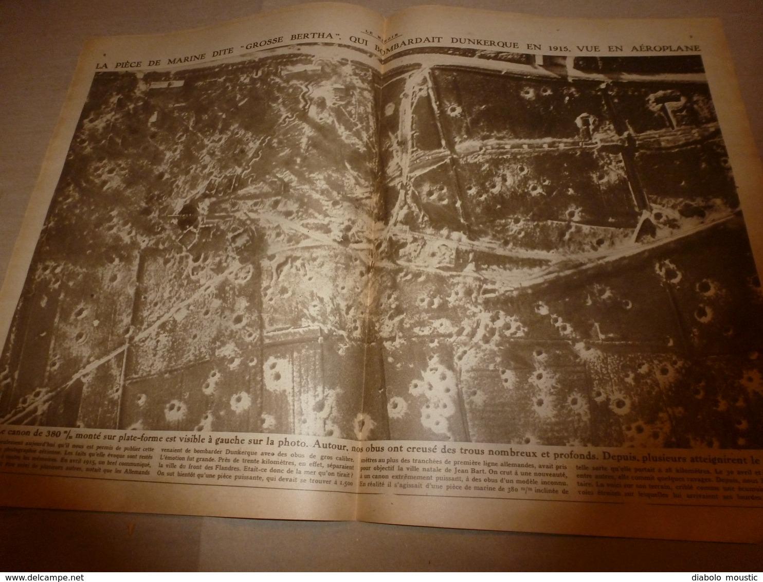 1918 LE MIROIR:Albert 1er Front Belge;Solférino;Grosse Bertha;Torpillage Du CHATEAURENAULT; Essai Tanks Au CANADA;etc - Français