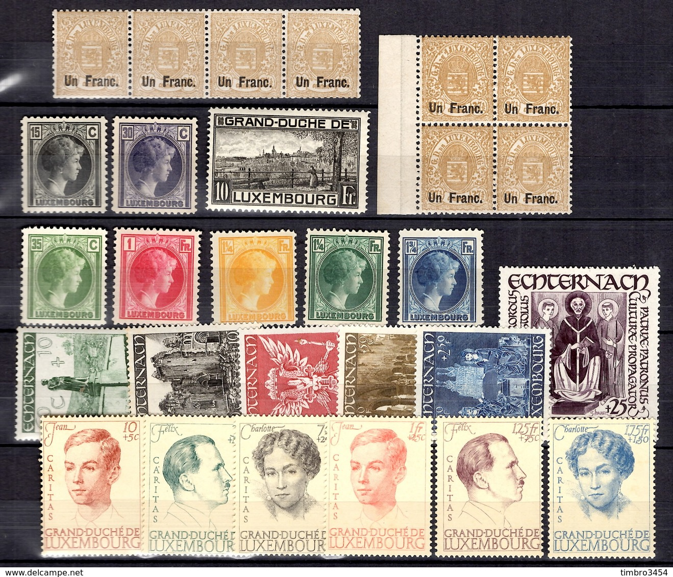 Luxembourg Belle Petite Collection Neufs ** MNH 1874/1947. Bonnes Valeurs. TB. A Saisir! - Luxembourg