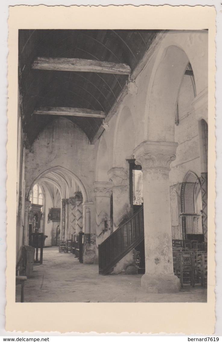 95  Fontenay En Parisis  Carte Photo Eglise Interieur - France