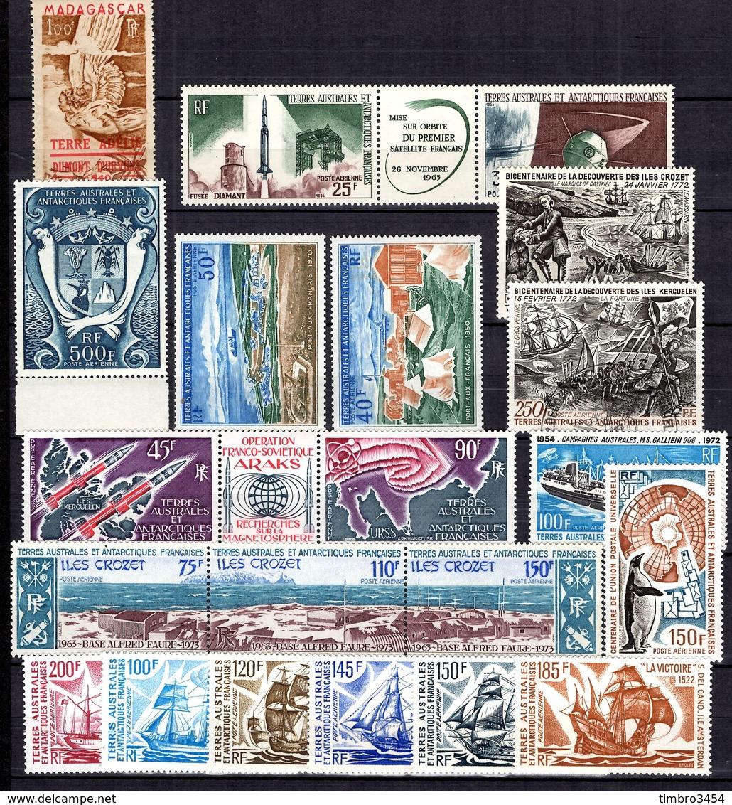 TAAF Belle Collection De Poste Aérienne Neufs ** MNH (un Oblitéré) 1948/1976. TB. A Saisir! - Terres Australes Et Antarctiques Françaises (TAAF)
