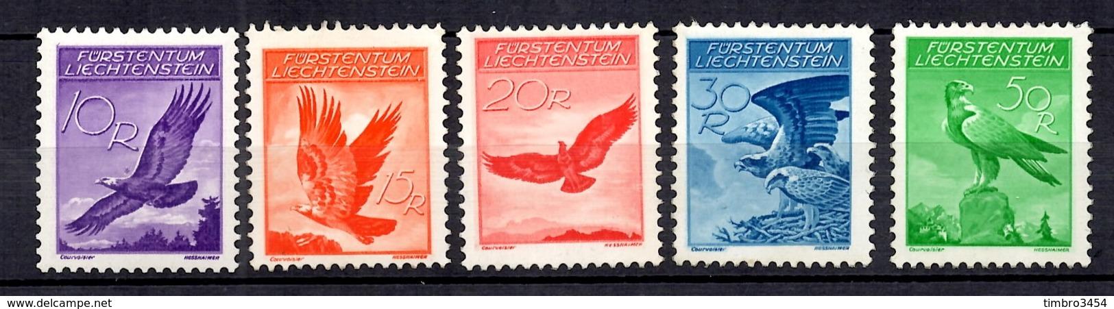 Liechtenstein Poste Aérienne YT N° 9A/13A Neufs ** MNH. TB. A Saisir! - Poste Aérienne