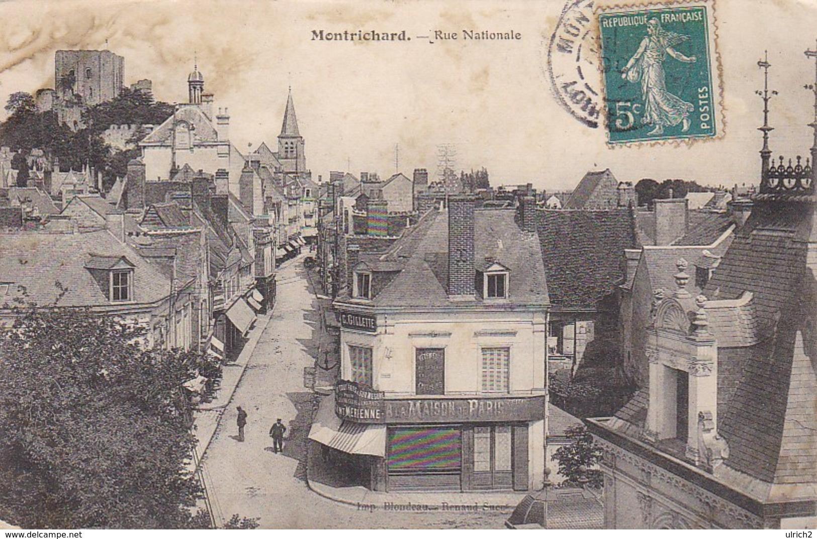 CPA Montrichard - Rue Nationale - Ca. 1910 (36864) - Montrichard