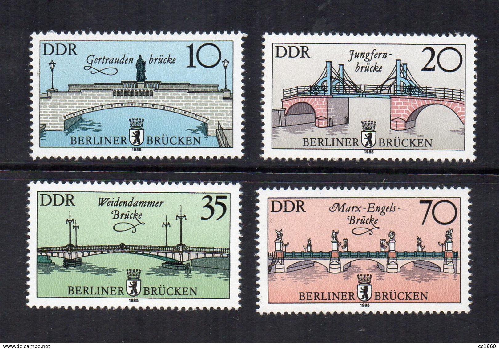Germania - DDR - 1985 - Ponti Storici A Berlino - 4 Valori - Nuovi - (FDC12428) - [6] Repubblica Democratica