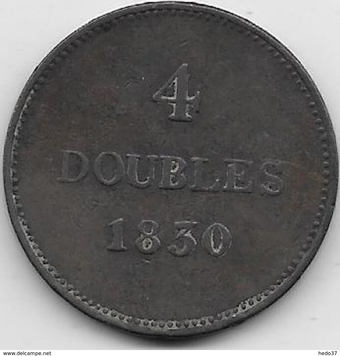 Guernesey - 4 Doubles - 1830  - TB - Guernesey