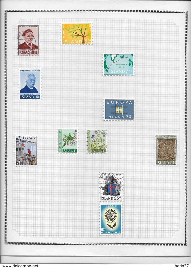 Islande - Collection Vendue Page Par Page - Timbres Neufs */oblitérés - B/TB - Collections, Lots & Séries