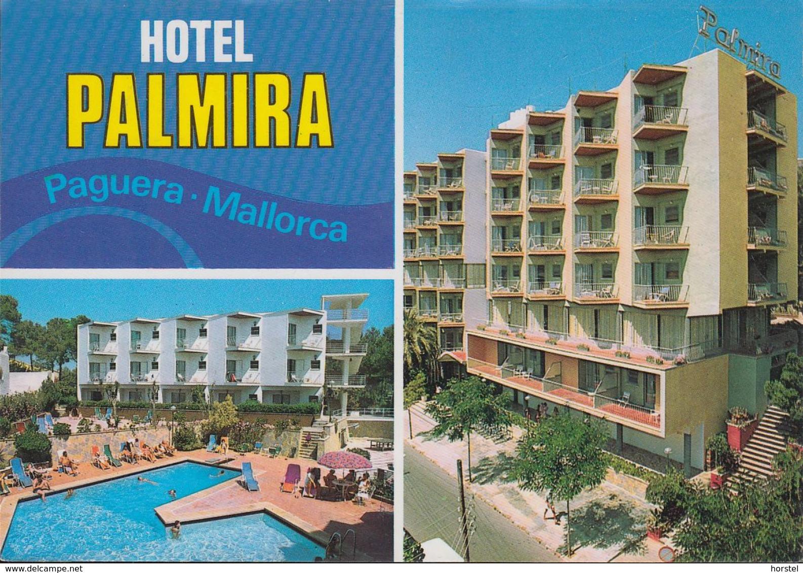 Spanien - Mallorca - Paguera - Hotel Palmira - 4x Stamps - Mallorca