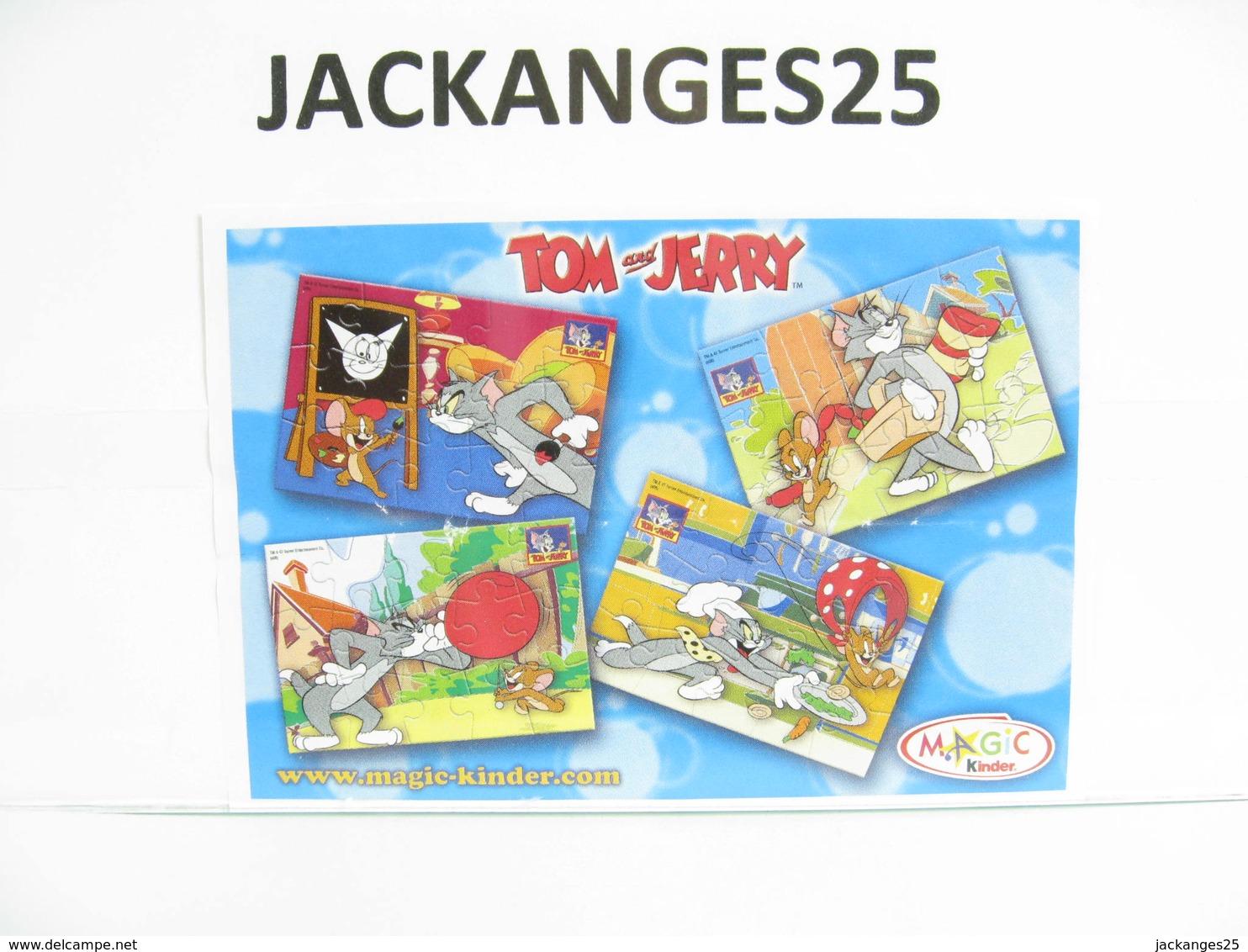 KINDER PUZZLE TOM ET JERRY 2008 MPG NV 167  + BPZ - Puzzles