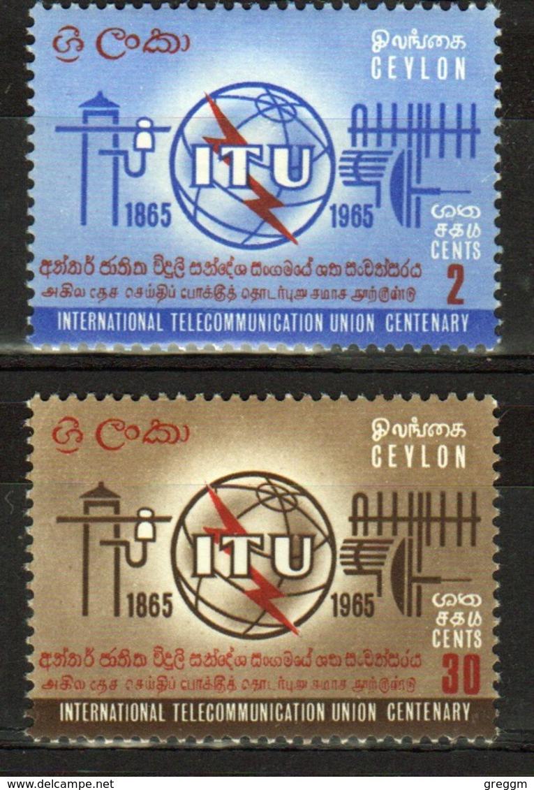 Ceylon 1965 Set Of Stamps To Celebrate ITU Centenary. - Sri Lanka (Ceylon) (1948-...)