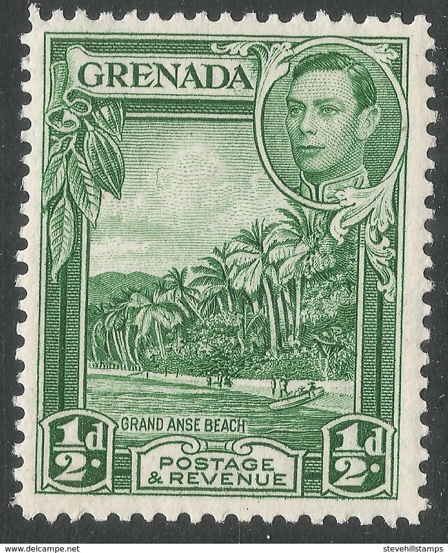 Grenada. 1938-50 KGVI. ½d MH. P12½ SG 153a - Grenada (...-1974)