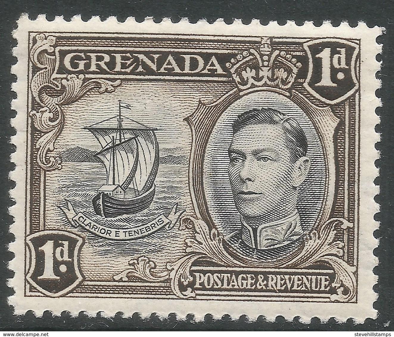 Grenada. 1938-50 KGVI. 1d MH. P12½ SG 154 - Grenada (...-1974)